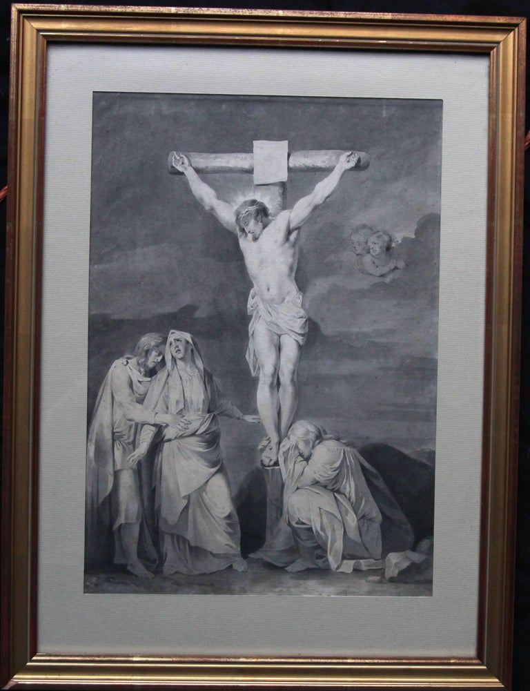 Sara Troost Figurative Art - The Crucifixion of Jesus - Dutch Old Master religious painting 18th century art