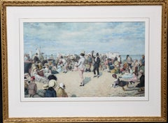 A Morning Concert - Victorian British painting black entertainers beach seaside