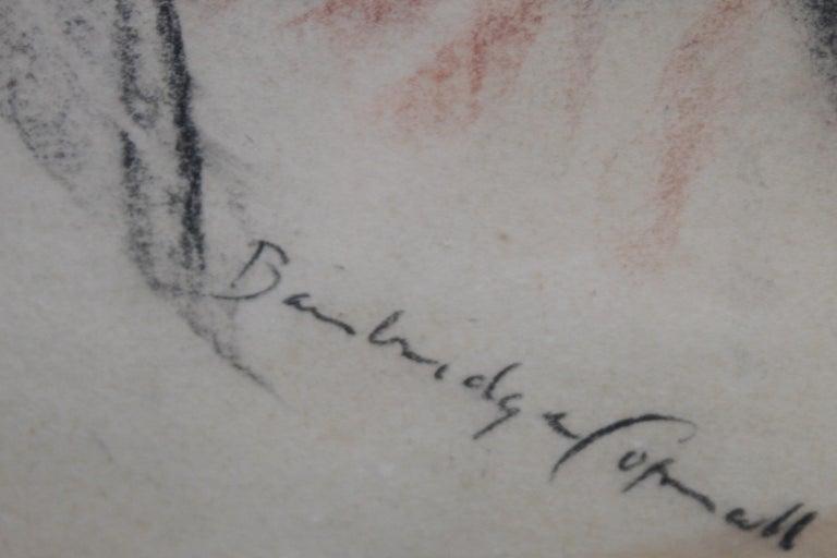 Portrait of a Lady - British art Post Impressionist 40s drawing female portrait  For Sale 3
