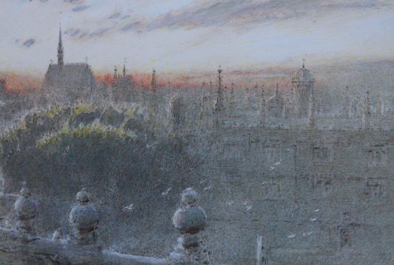 A fresh and vibrant watercolour which is signed and dated 1928 by Albert Goodwin RWS.  It depicts a