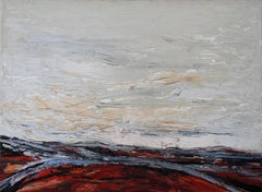 Routes Across a Landscape - British Australian 60's Expressionist oil painting