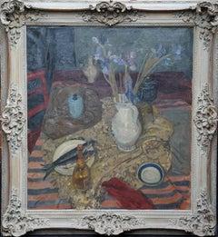 Still Life 1951 - Scottish art Interior still life oil painting exhib RSA 1953