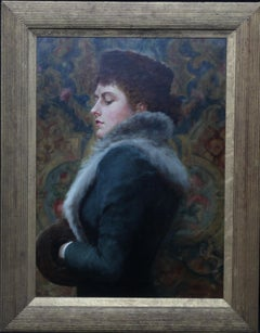 Portrait of Nora Palairet - British Victorian Pre-Raphaelite art oil painting