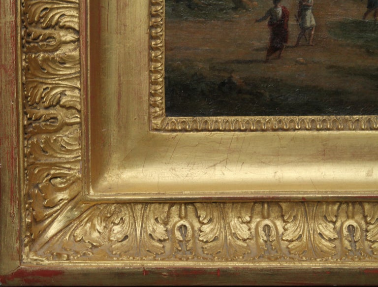 Italian Mountainous River Landscape  - French 19th Century Neo Classical art  For Sale 7