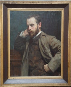 Portrait of a Gentleman - British Victorian art male portrait oil painting