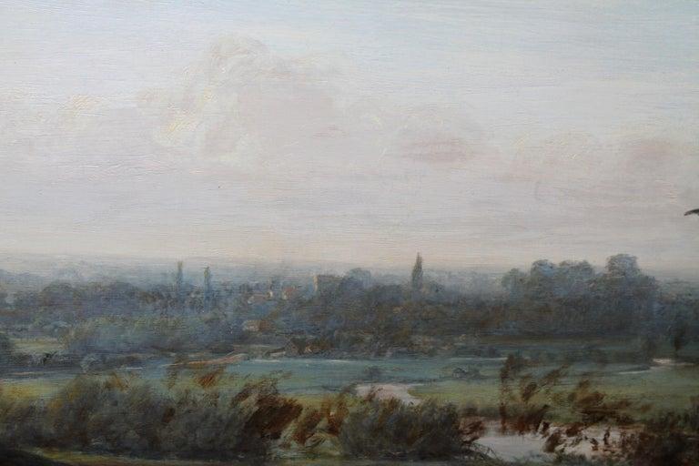 The Plough - British Victorian art horse landscape oil painting 1886 RA exhibit For Sale 4