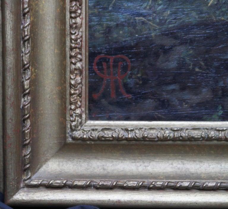 The Plough - British Victorian art horse landscape oil painting 1886 RA exhibit For Sale 9