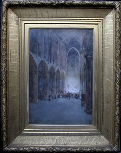 Glasgow Cathedral - Scottish Glasgow Boys Impressionist painting church interior