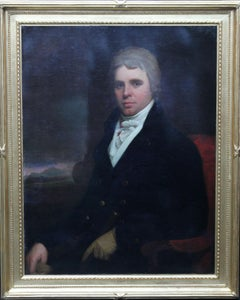 Portrait of Charles Stewart Parker - British 18thC art Old Master oil painting