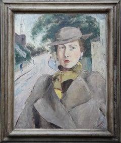 Self Portrait in Hampstead - Russian British art London landscape oil painting