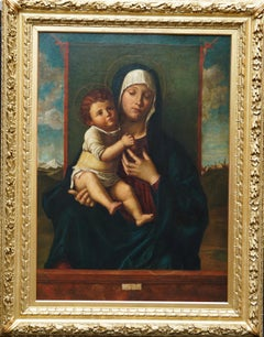 Madonna and Child - Renaissance religious art British portrait oil painting