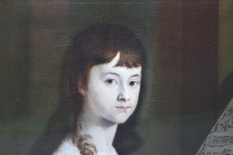 This superb late 18th century portrait oil painting is attributed to noted Scottish Old Master artist Alexander Nasmyth. Painted circa 1780 the sitter is a young woman, Sarah Wagstaff. (we also have portraits of her brother). She is depicted, gazing