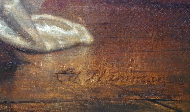 The Art Lover - Belgian 19th century art interior portrait oil painting  For Sale 3