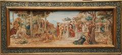 Florentine Garden - Italian Victorian Pre-Raphaelite art landscape painting