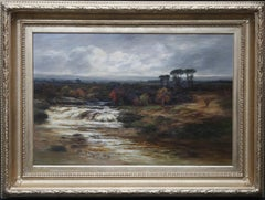 Dulnain River Cairngorms Scotland -Scottish Victorian art landscape oil painting