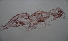 Reclining Nude - British 40's art nude female portrait Royal Academician artist