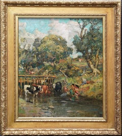 Galloway Pastoral - Scottish Victorian Impressionist art oil painting Exh 1889