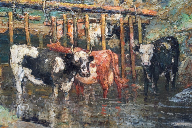 Galloway Pastoral - Scottish Victorian Impressionist art oil painting Exh 1889 For Sale 4