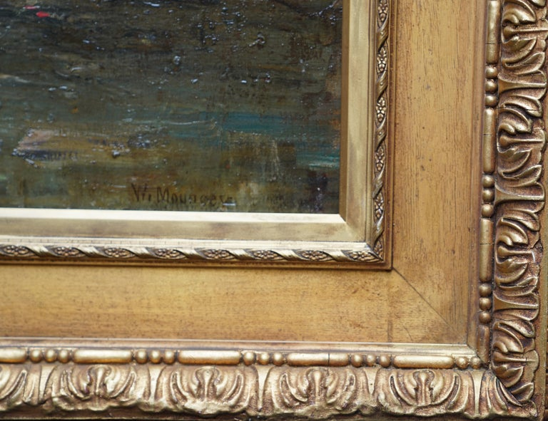 Galloway Pastoral - Scottish Victorian Impressionist art oil painting Exh 1889 For Sale 6