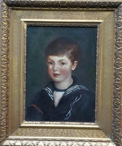 Portrait of a Sailor Boy - British Victorian art Naval portrait oil painting