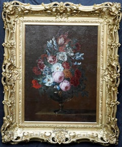 Floral Bouquet with Peonies -Dutch Golden Age art floral still life oil painting