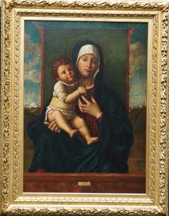 Madonna and Child - Renaissance religious art British portrait oil painting