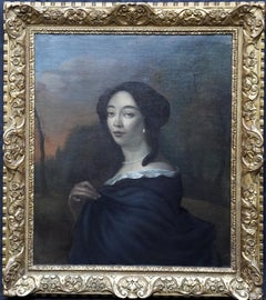 Portrait of Anna de Hooghe - Flemish art Old Master portrait oil painting