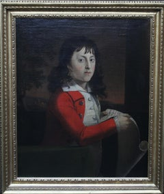 Portrait of a Young Boy Thomas Wagstaff - Scottish art 18th century oil painting