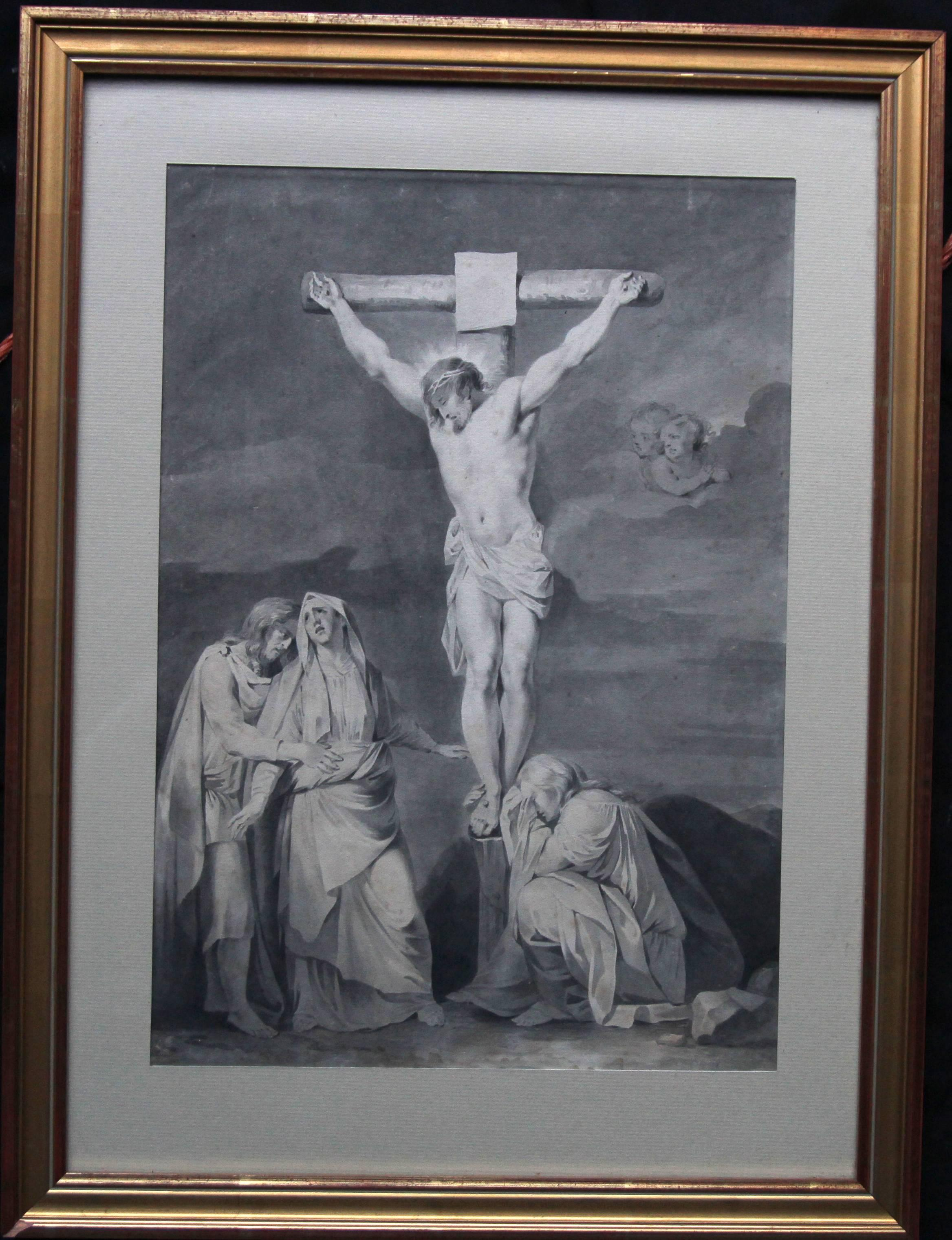 The Crucifixion of Jesus - Dutch Old Master art religious painting female artist