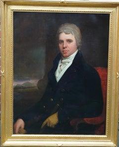 Portrait of Charles Stewart Parker - British 18thC art Old Master oil painting