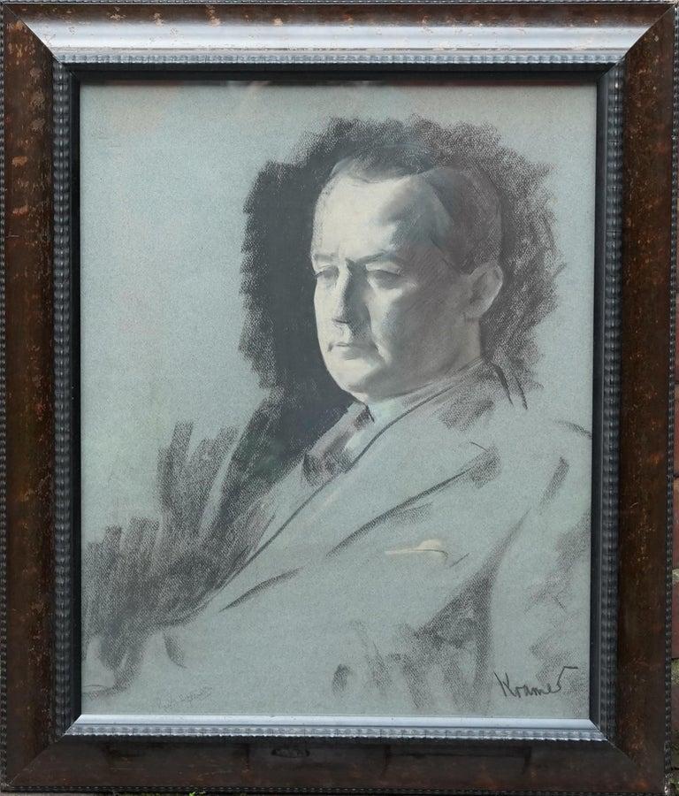 Portrait Sketch of George Hopkinson - British Jewish art 1920's male portrait  - Art by JACOB KRAMER