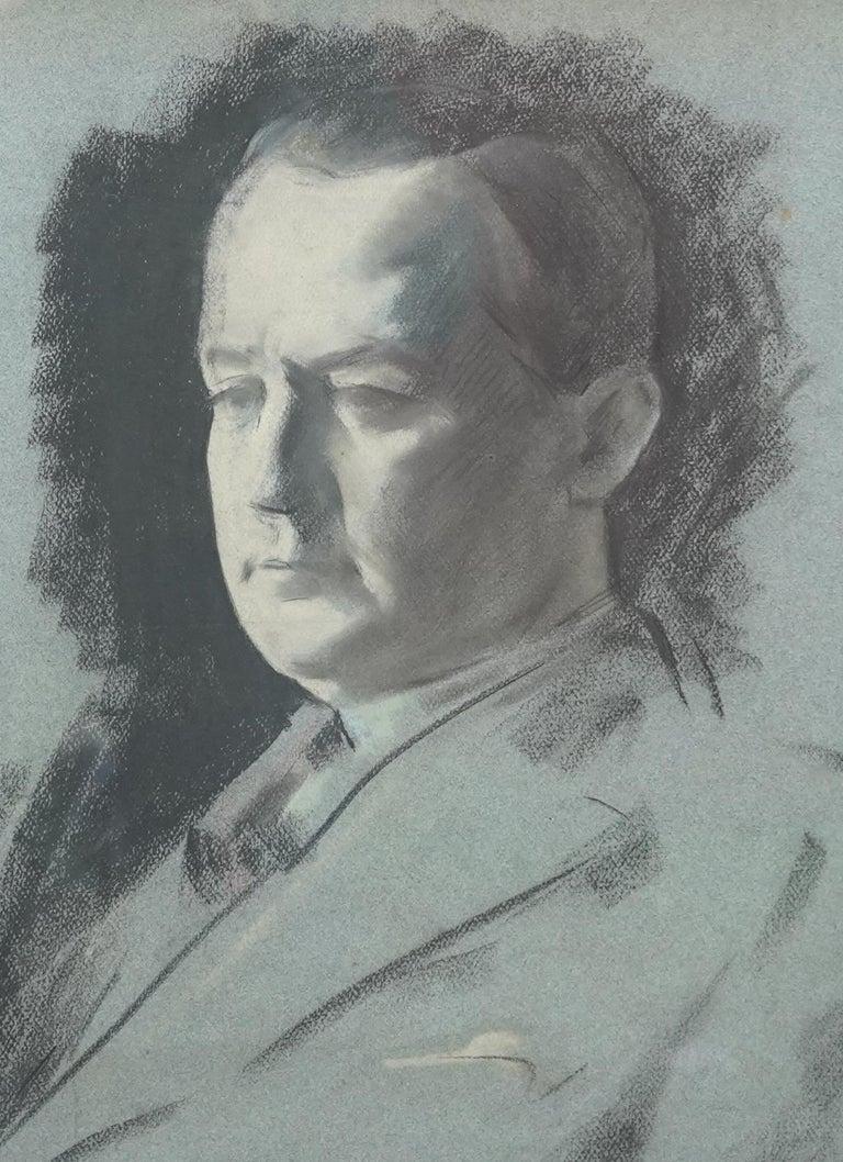 Portrait Sketch of George Hopkinson - British Jewish art 1920's male portrait  For Sale 1