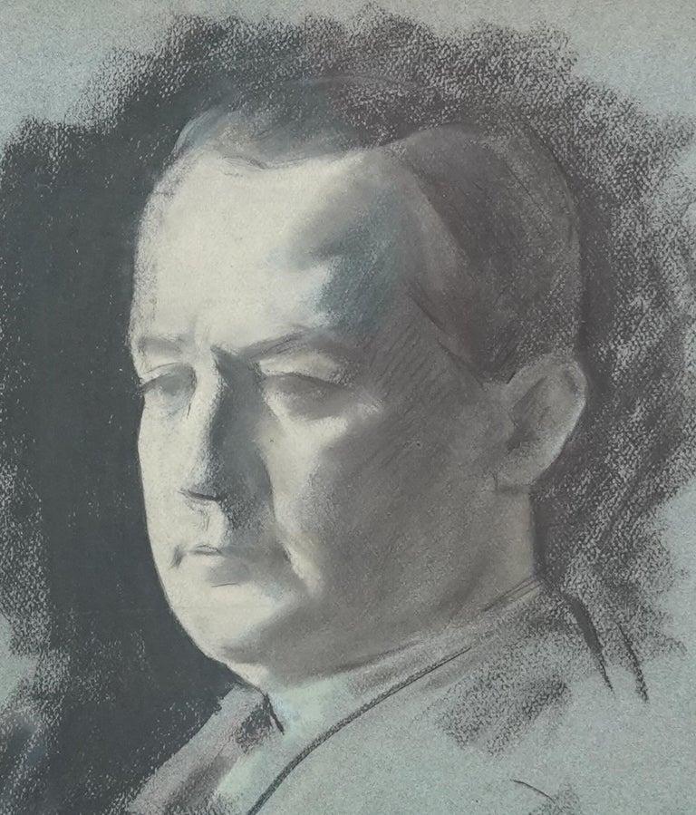 Portrait Sketch of George Hopkinson - British Jewish art 1920's male portrait  For Sale 2