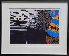 Edge of the Universe - British Abstract art watercolour painting St Ives Newlyn