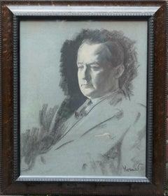 Portrait Sketch of George Hopkinson - British Jewish art 1920's male portrait