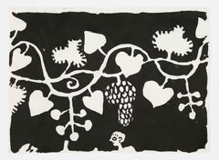 Elisabeth Kley's Men with Grapes Silkscreen Print