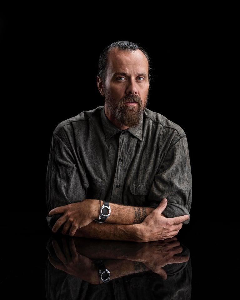 Rogan Gregory Patinated Bronze Candlestick Holder For Sale 3