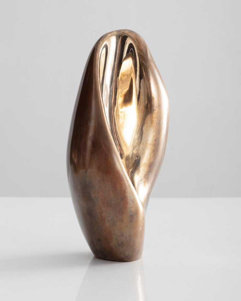 Rogan Gregory Bronze Fertility Form Single Candlestick Holder 1