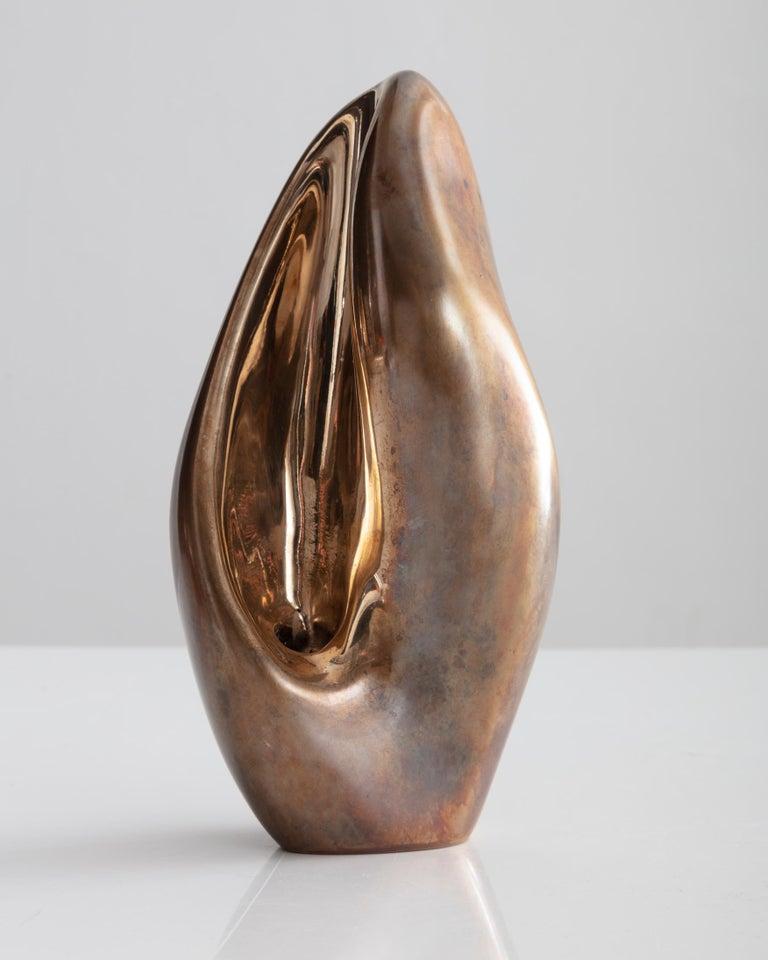 Rogan Gregory Patinated Bronze Candlestick Holder For Sale 1