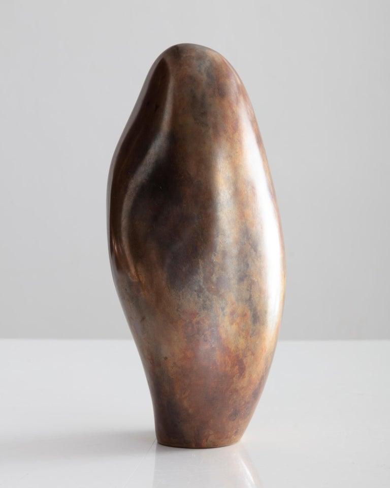 Rogan Gregory Patinated Bronze Candlestick Holder For Sale 2