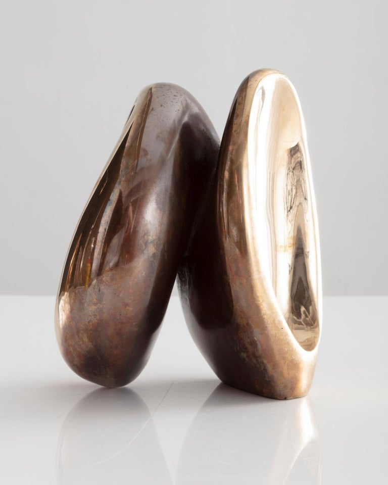 Rogan Gregory Bronze Fertility Form Double Candlestick Holder - Contemporary Sculpture by Rogan Gregory