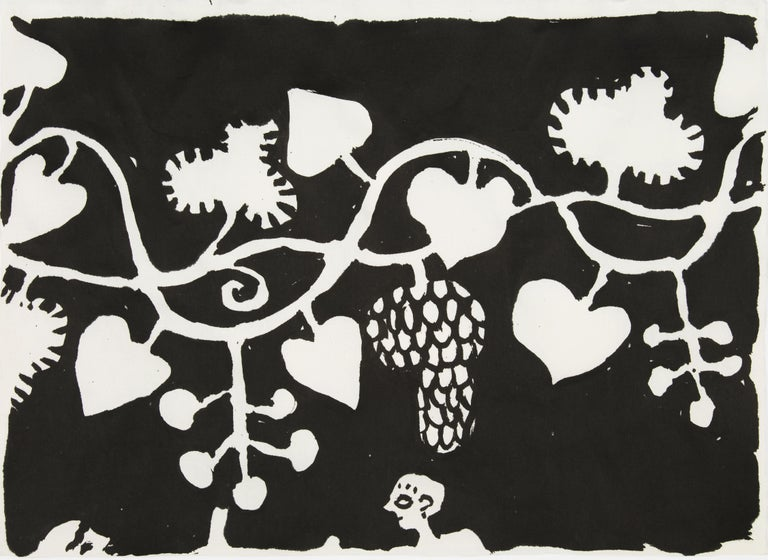 Elisabeth Kley's Men with Grapes Silkscreen Print For Sale 3