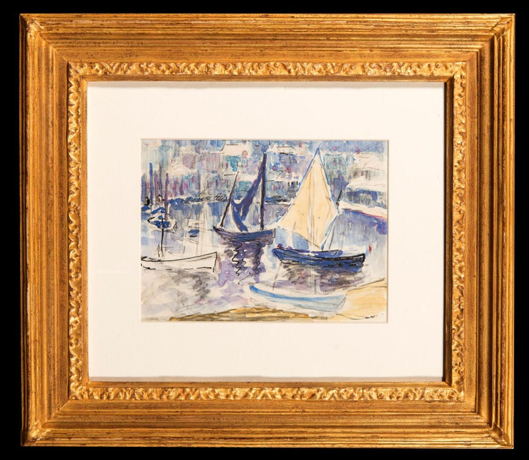 Boats in St. Tropez Harbour - Art by Hillary Clements Hassell