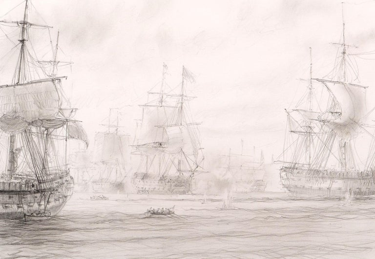 Preparatory Sketch for Battle of Copenhagen  - Art by John Steven Dews