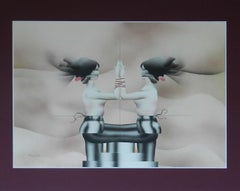 Terry Pastor 1971 Original Artwork Airbrush Illustration Mid century semi erotic