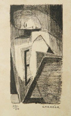 Lithograph by Nicolas Carrega Mid century