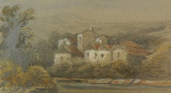 Two Landscape Paintings Miniatures by Felix Thoriguy 19th Century 1824 - 1870