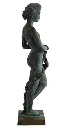 Naked Lady Statue by Ronald Moll Althea Cold Cast Bronze Sculpture