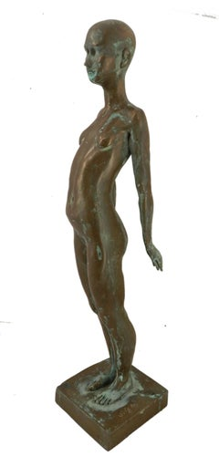 Naked Lady by Ronald Moll Cold Cast Bronze Sculpture Limited Edition