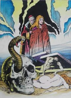 Original Painting Horror Comic L'Esorcista c1970